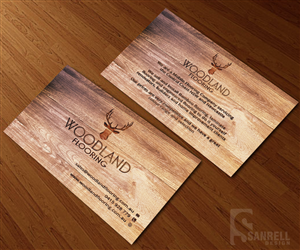 business card design woodland flooring business card design by sanrell - Flooring Business Cards