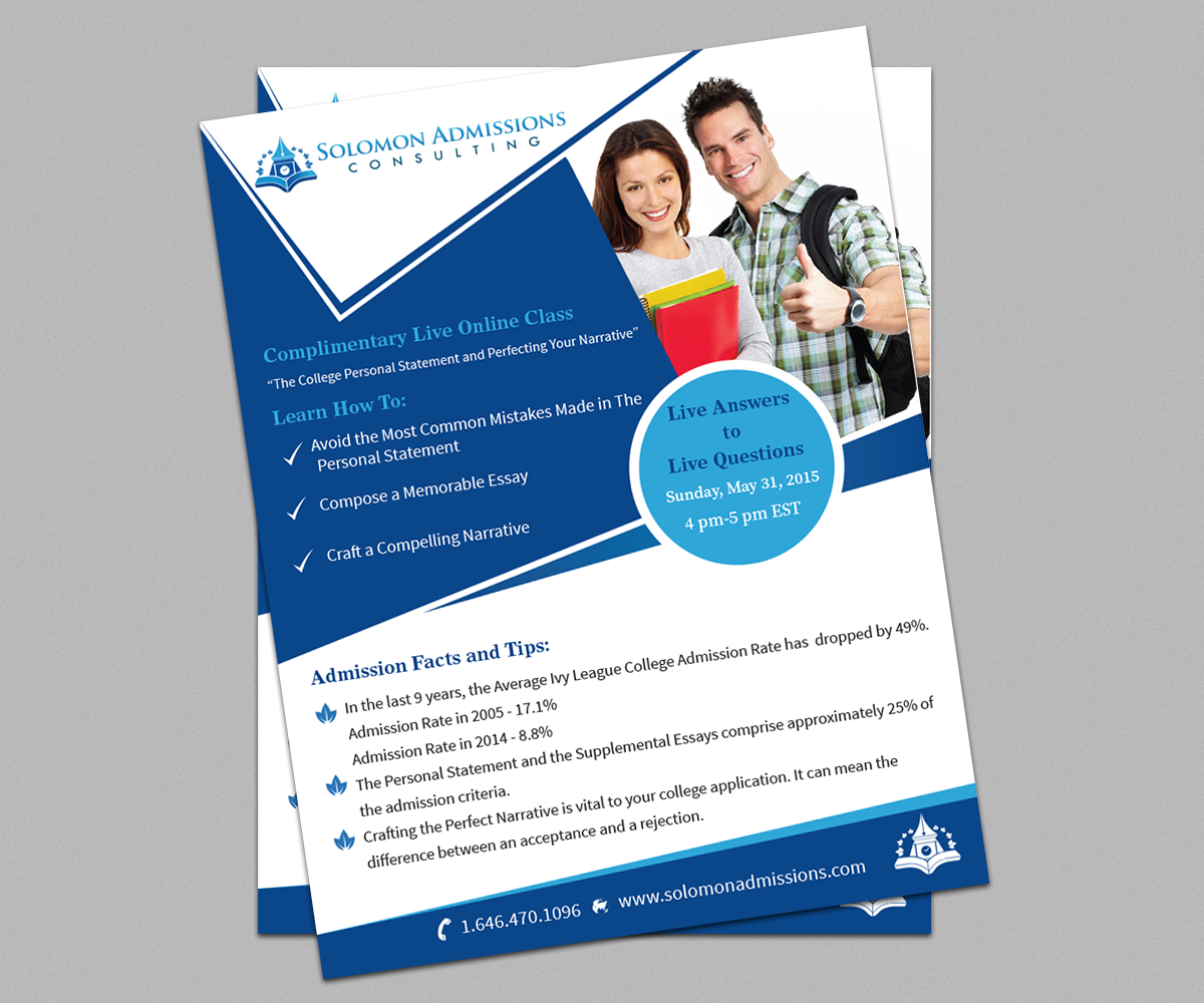 masculine serious college flyer design for a company by shabnum