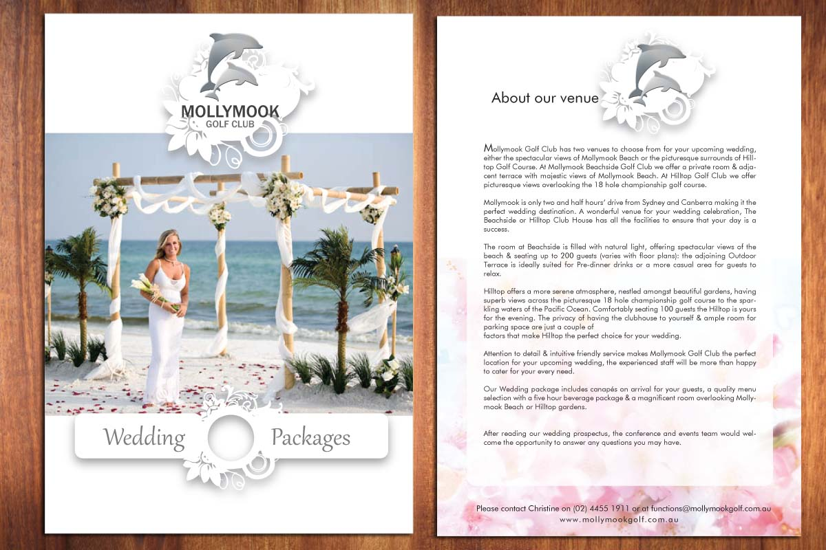 Brochure Design for Mollymook Golf Club by Smart | Design #1574469