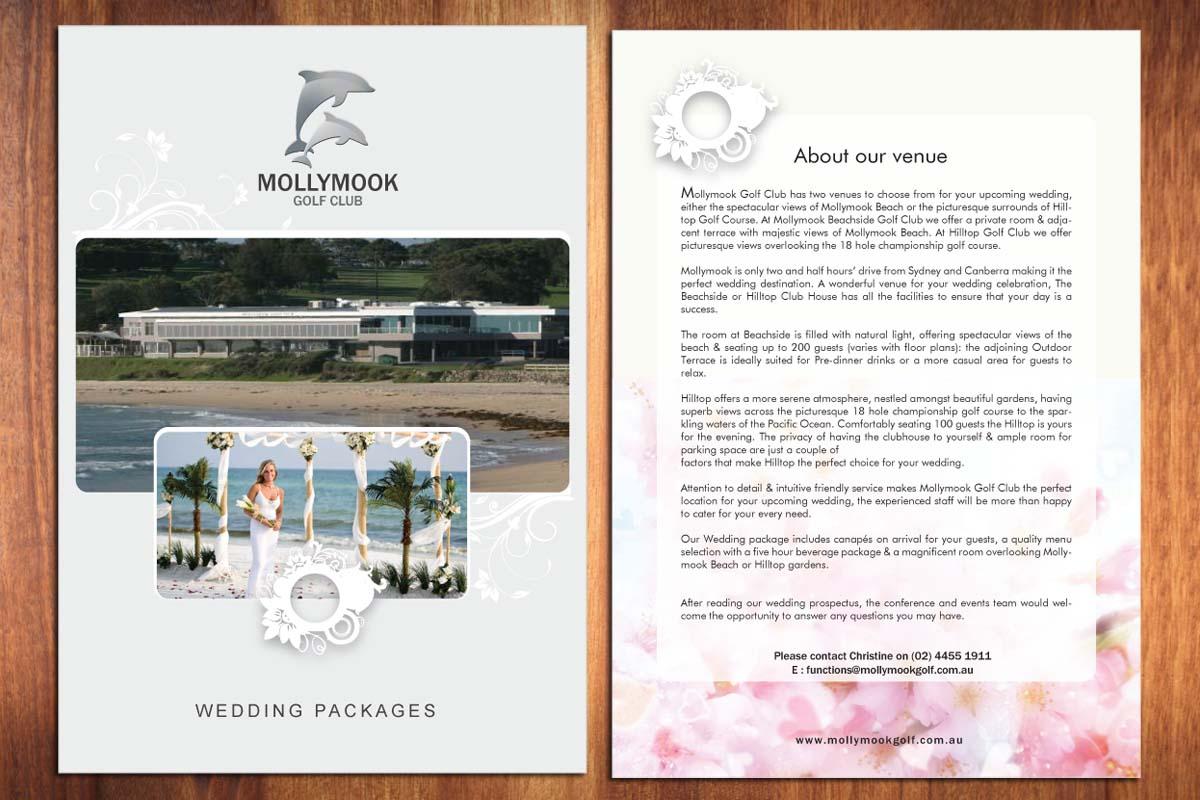 Wedding Brochure Design for Mollymook Golf Club by Sbss | Design ...