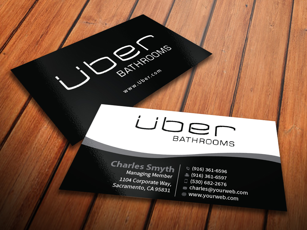Business Card Design for Uber Bathrooms by MediaProductionArt ...
