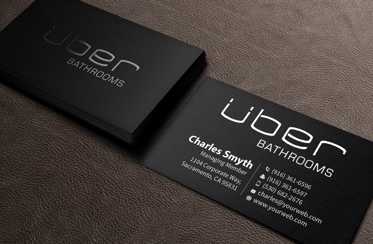 Marketing Business Card Design for Uber Bathrooms by