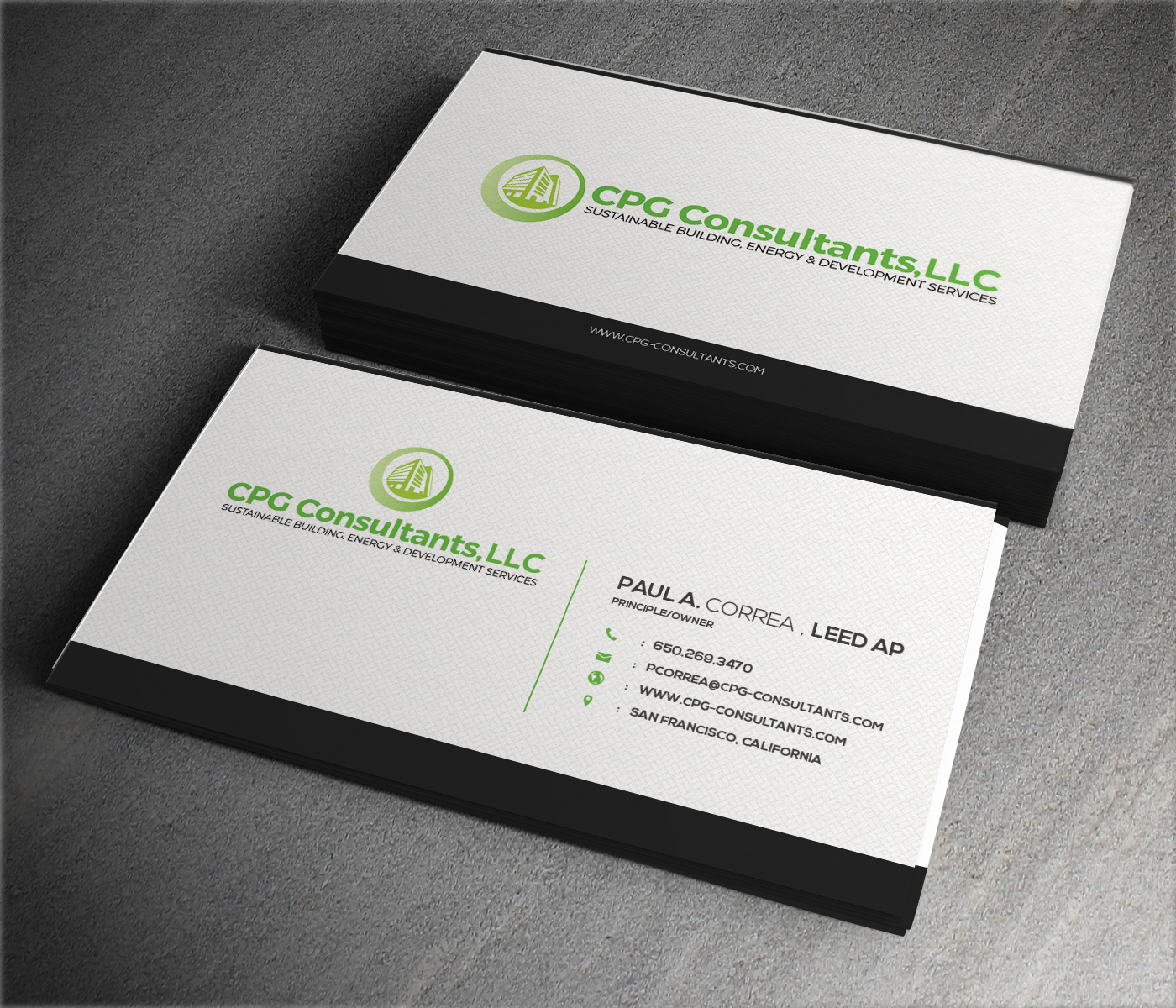 Design De Carte Visite Par ThemeDesk Technology Pour CPG Consultants