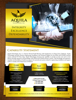 Brochure Design by ESolz Technologies - IT business needs a one sided (no fold) brochure