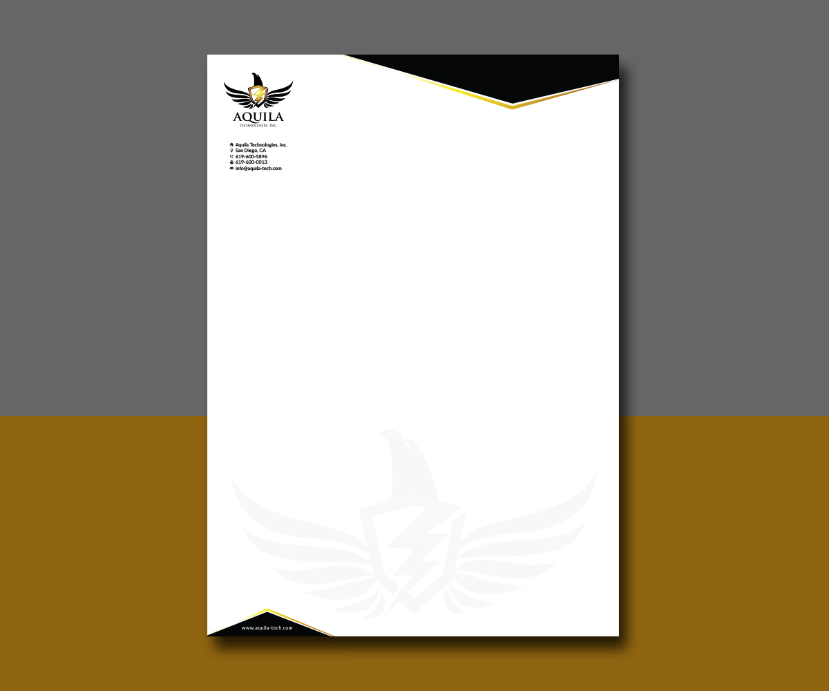 Letterhead Design By AizerDS For Aquila Technologies Inc