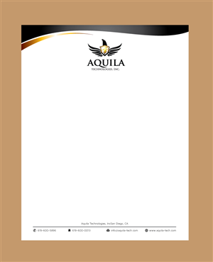 Letterhead Design By Meet007 For Aquila Technologies Inc