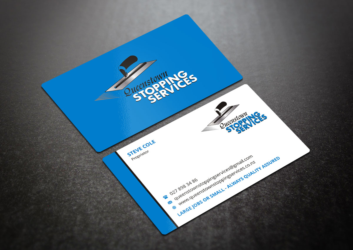 Elegant playful business card design for steve by indian for Drywall business card
