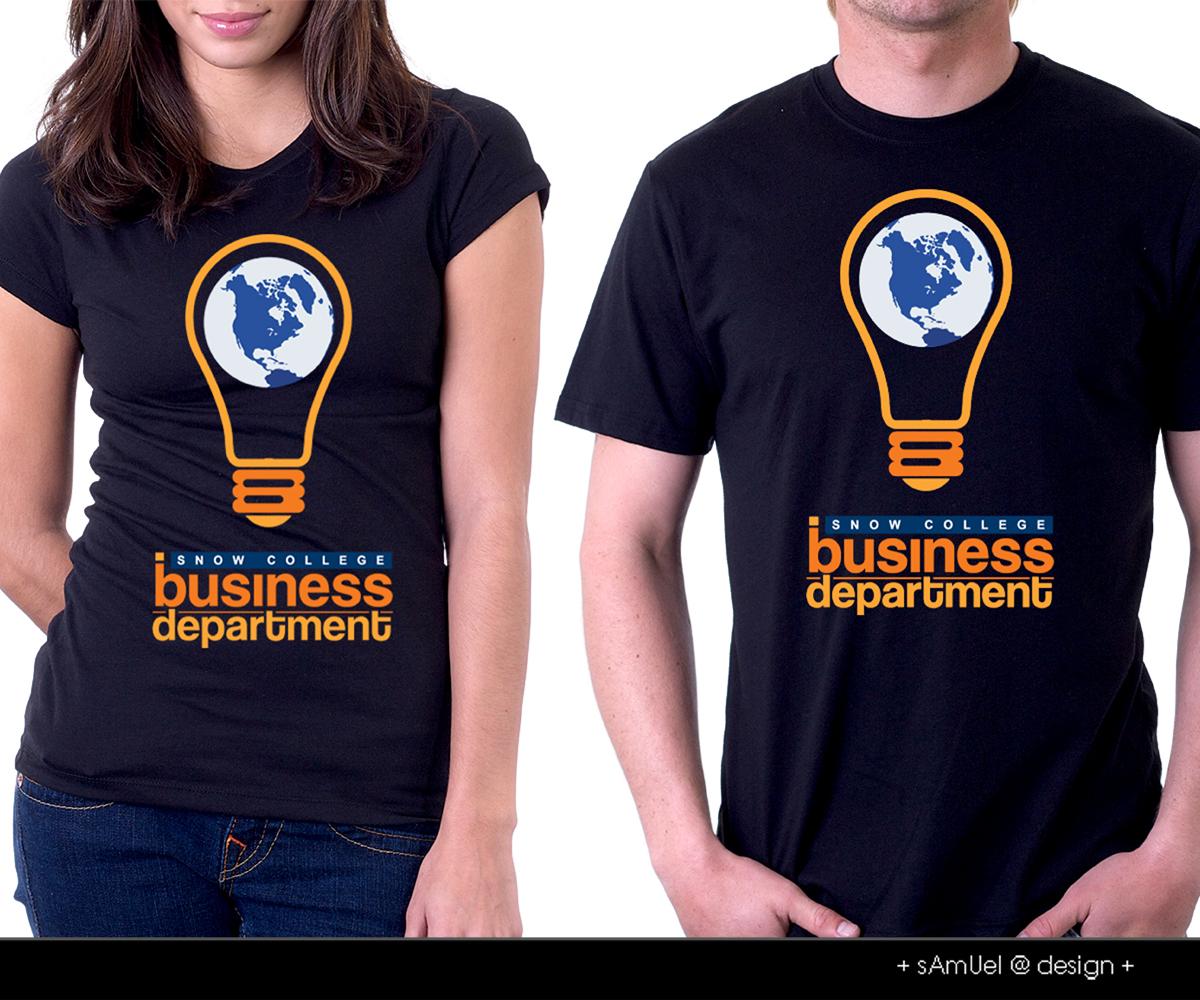 modern playful t shirt design for russ johnson by samuel
