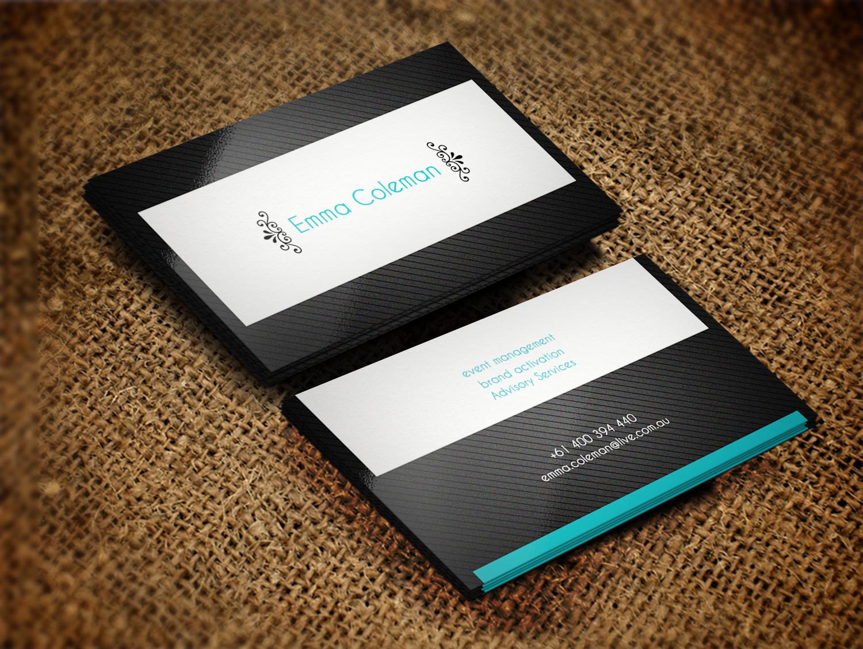 Feminine, Upmarket Business Card Design for Emma Coleman by Lanka ...