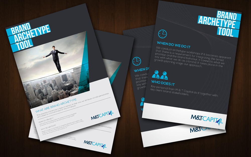 custom brochure design - elegant playful investment brochure design for beacon