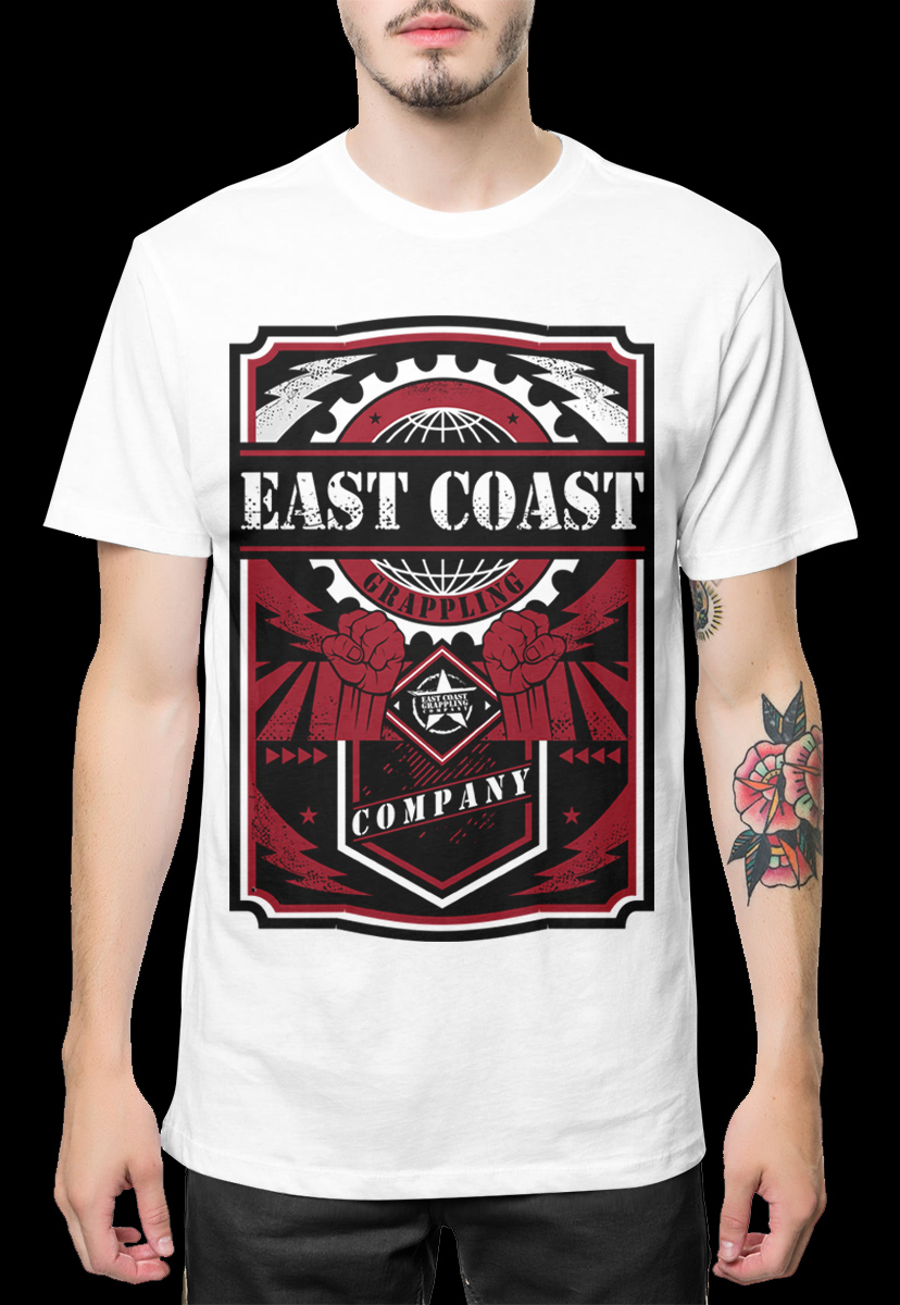 Shirt design style - T Shirt Design By Kid Ink For Propaganda Style T Shirt For Eastcoast Grappling