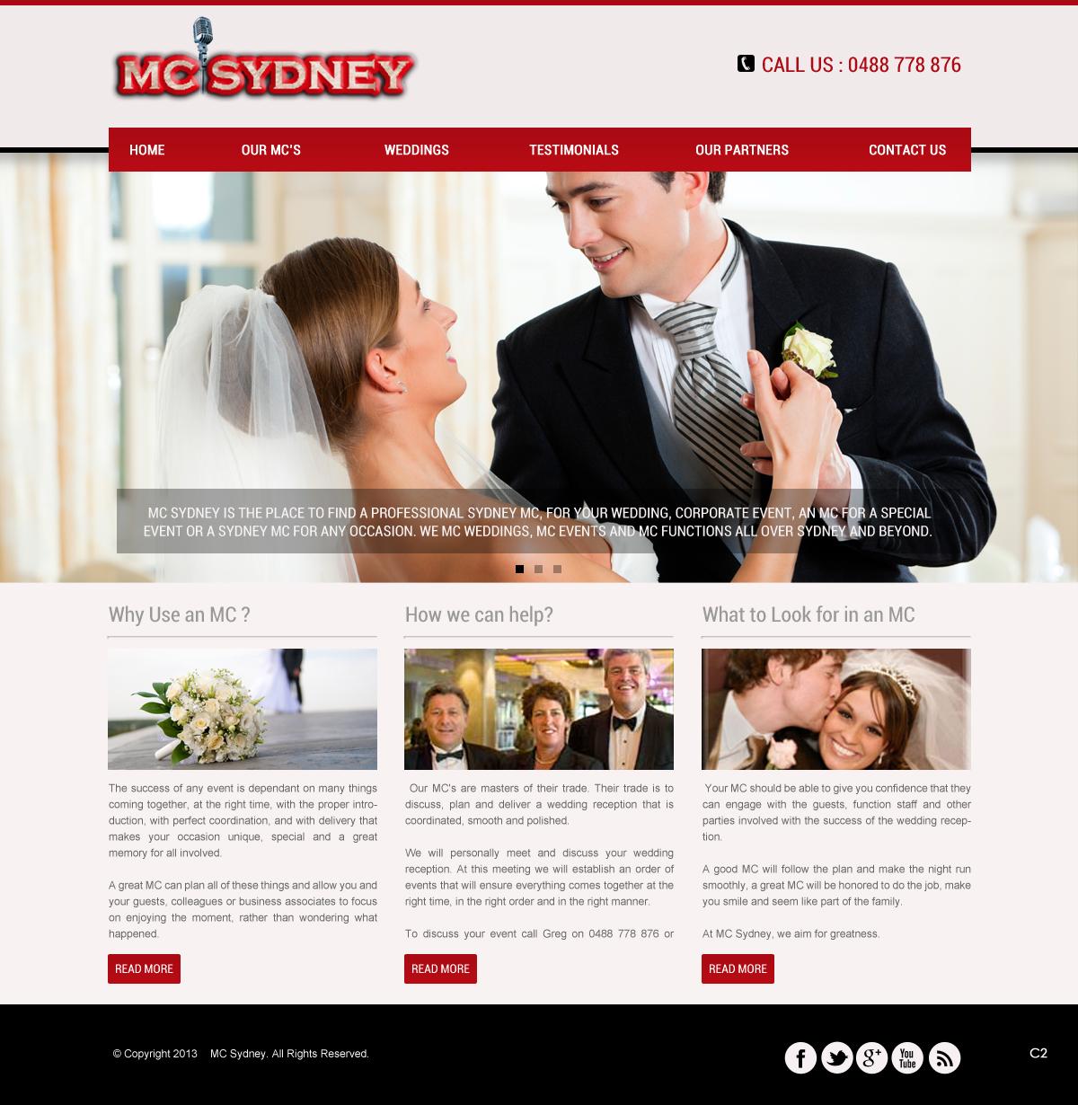 Elegant Playful Wedding Web Design For Mc Sydney By Pb Design 1721661