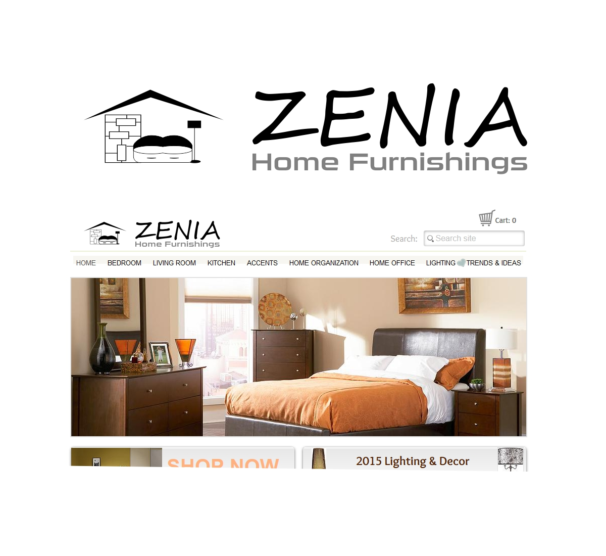 Business Logo Design For Zenia Or Zenia Home Furnishings By