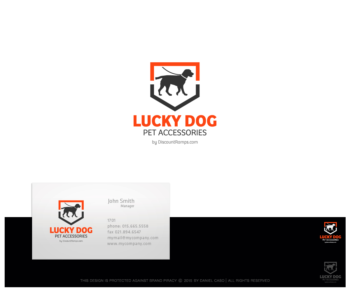 Elegant Playful House Logo Design For Lucky Dog Pet Accessories