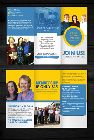 Brochure Design by hih7 - Brochure for Osher Lifelong Learning Institute