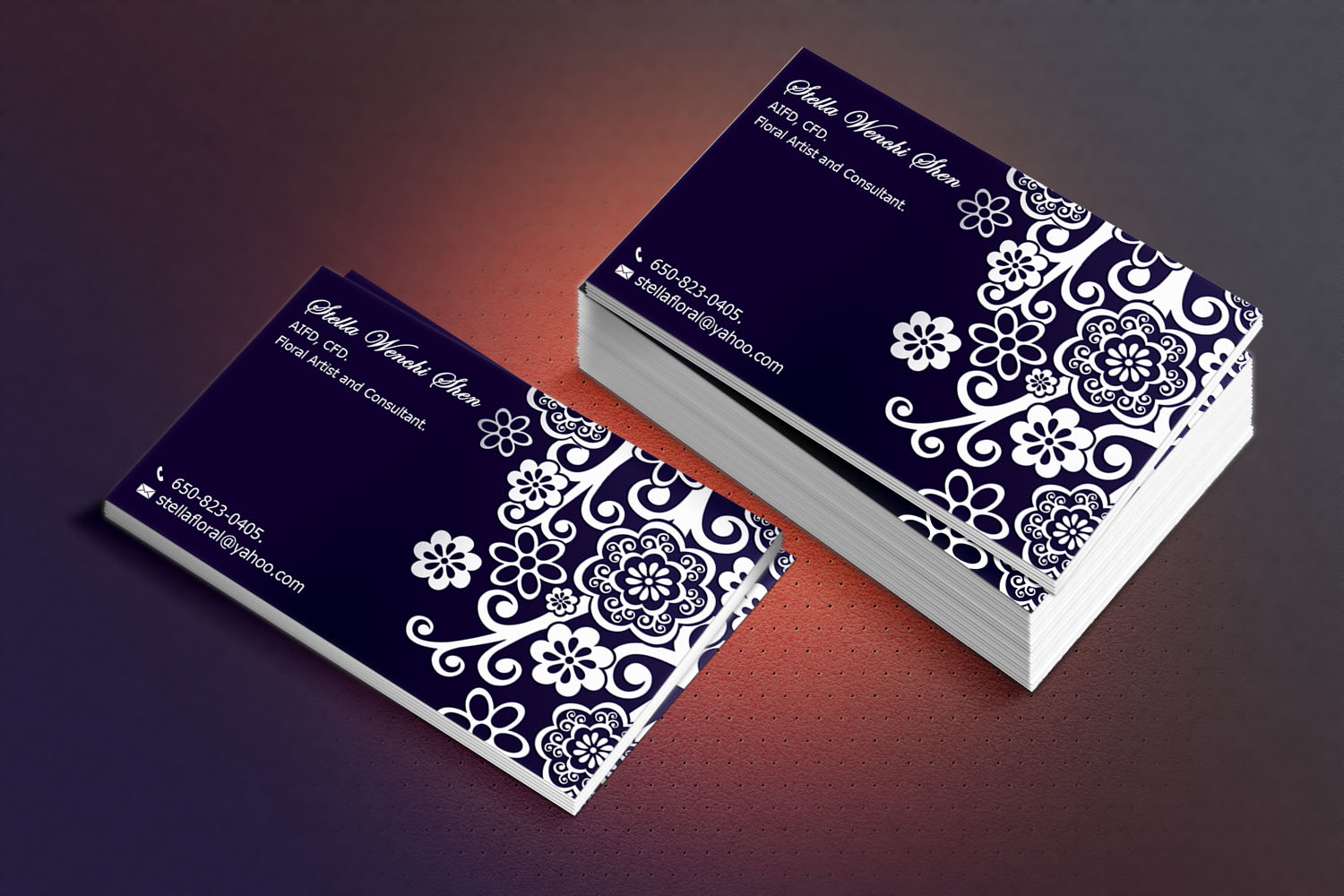 Upmarket Modern Floral Business Card Design For A Company By