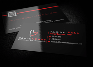 Business Card Design by philvegas - Change Management Consulting; Bold Leadership