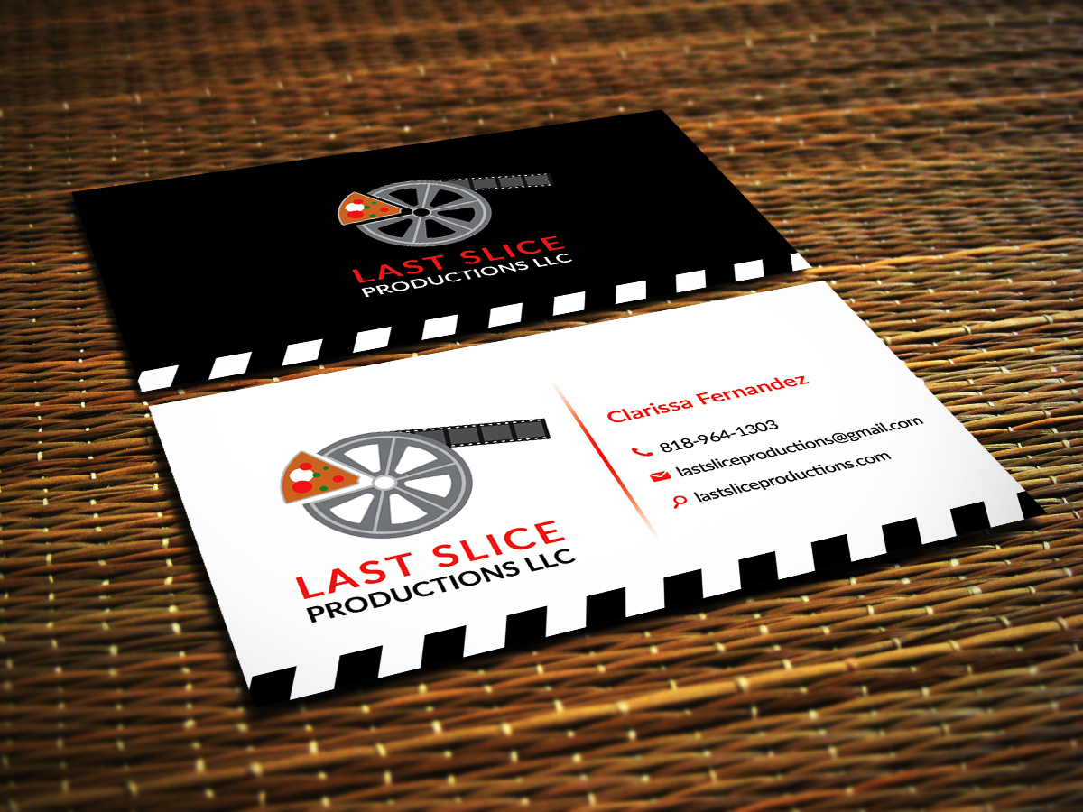 Modern playful business card design for clarissa for Video production business cards