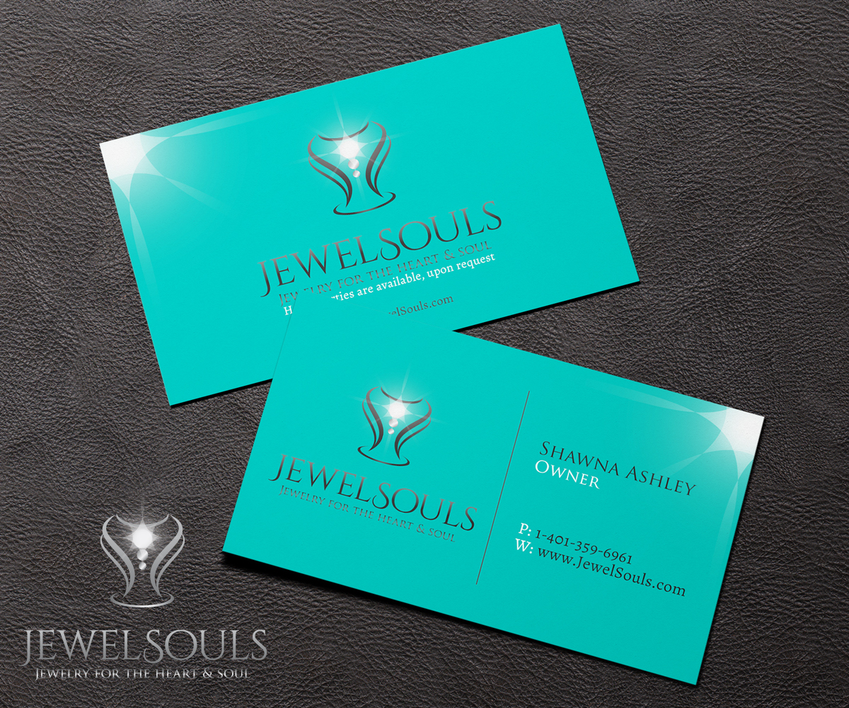 Feminine, Economical Logo and Business Card Design for JewelSouls ...