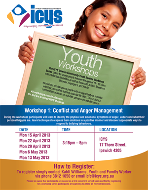 Community youth organisation needs a flyer template design for Workshop brochure template