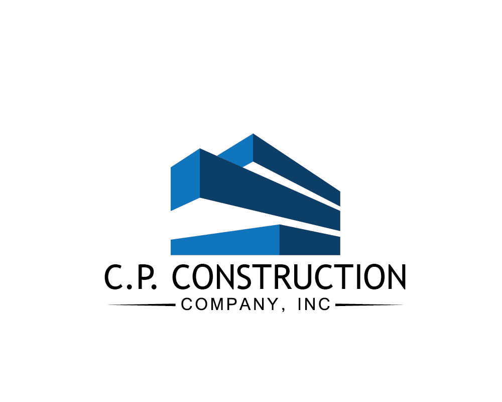 serious traditional utility logo design for c p construction company inc by vmchickx. Black Bedroom Furniture Sets. Home Design Ideas