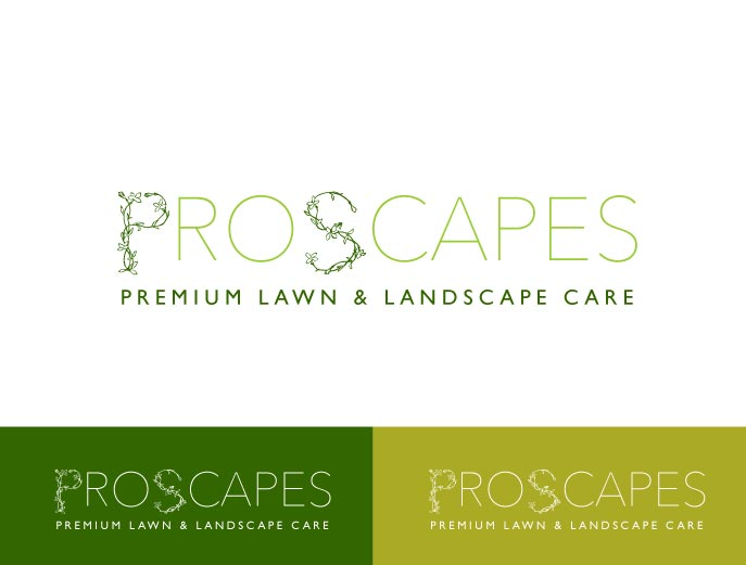 Logo Design by wonderland for this project | Design #5819856 - Upmarket, Bold, Landscape Logo Design For Pro-Scapes Premium Lawn