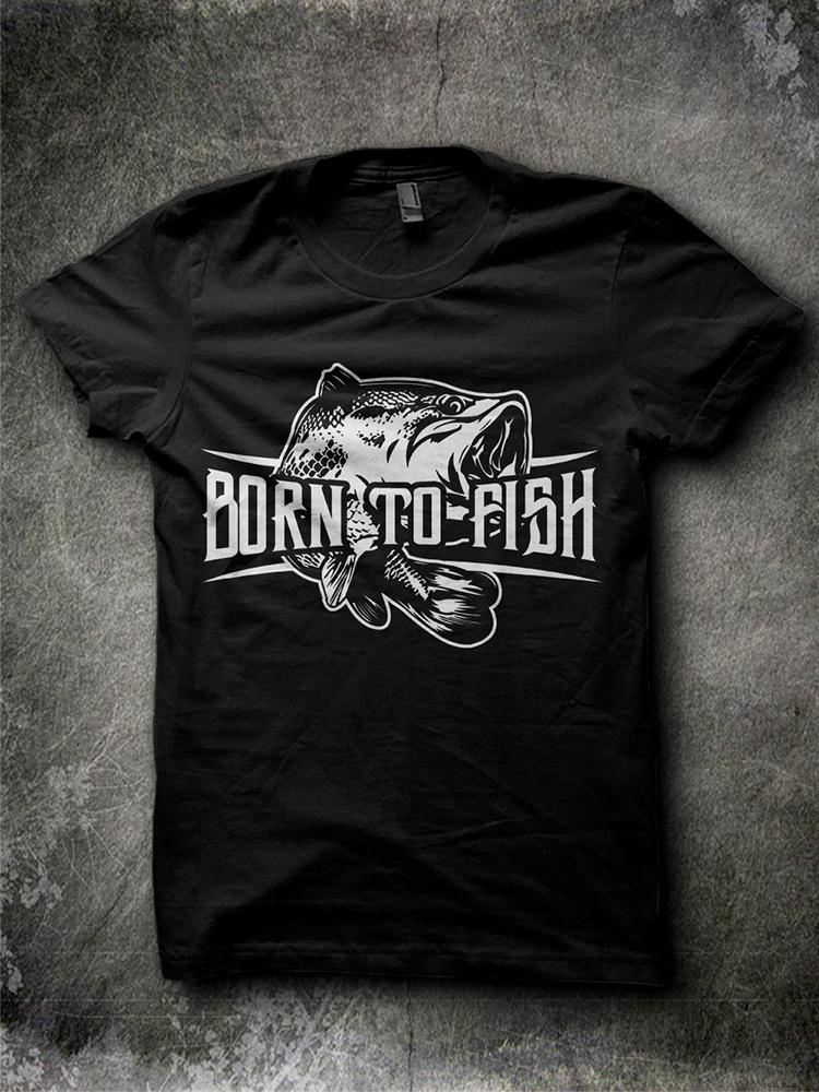 Masculine bold t shirt design for matt leclair by jonya for Fishing shirt designs