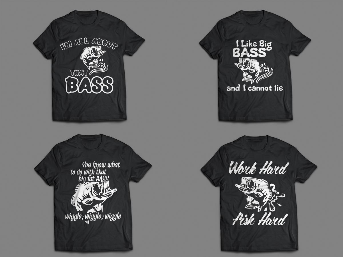 Shirt design needed - T Shirt Design By Iuliansz For Bass Fishing T Shirt Designs Needed Design