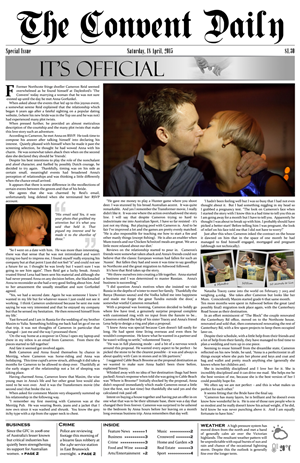 newspaper layout on word