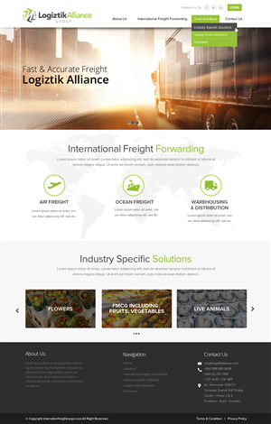 Web Design by OM - International freight forwarder experienced in  ...