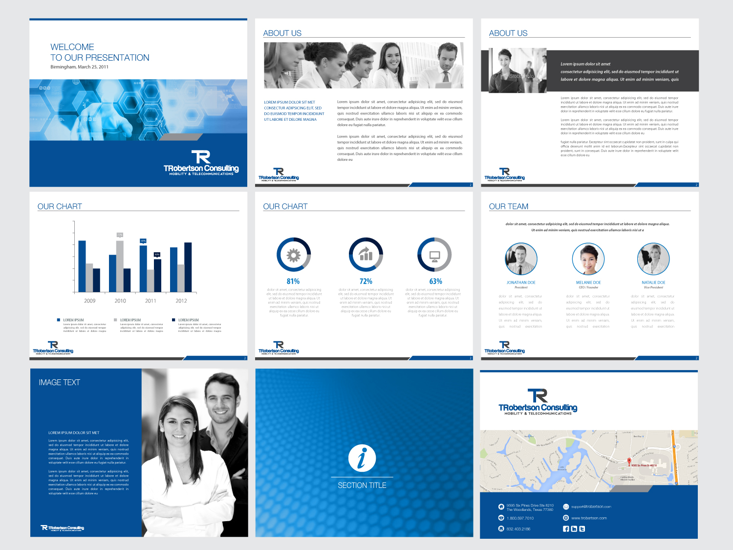 professional looking powerpoint templates - professional modern powerpoint design for tina robertson