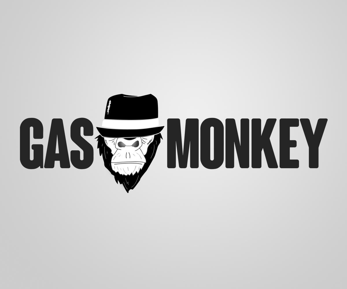 Fett Spielerisch Restaurant Logo Design Für Gas Monkey