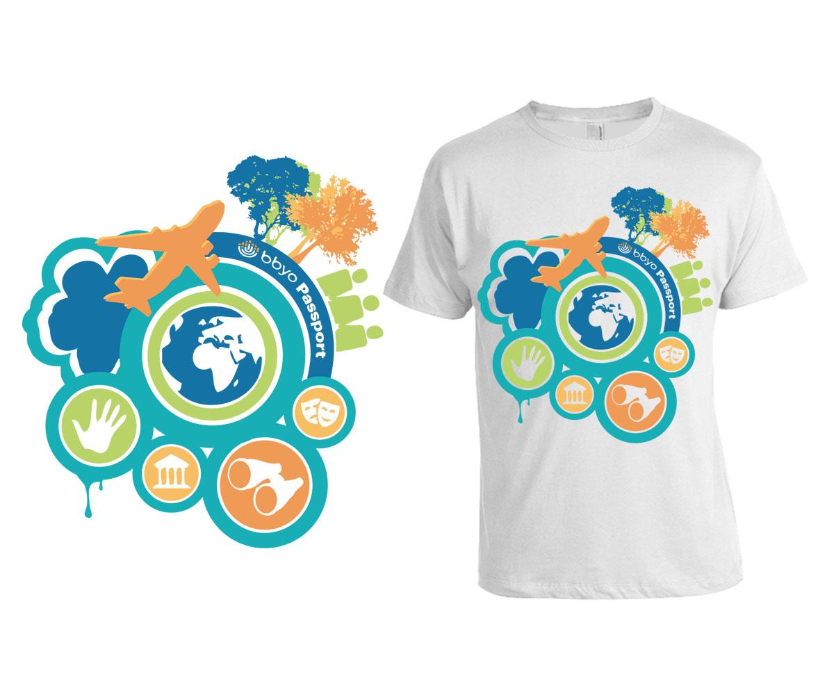 Design t shirt program - T Shirt Design By Ambre Lee For Summer Teen Travel Program T Shirt