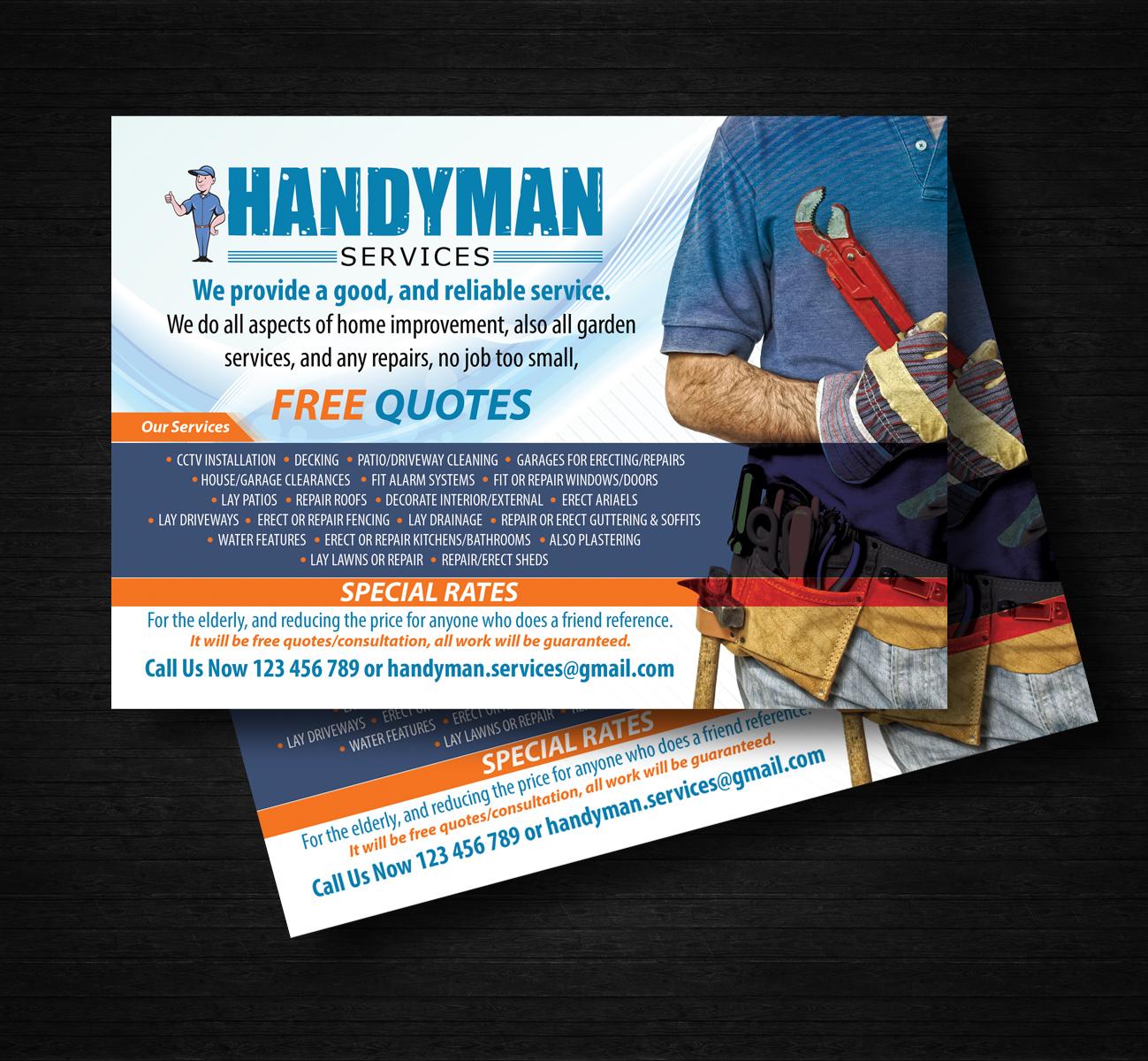 Poster design jobs uk - Flyer Design By Uk For Handyman Services Design 5863135