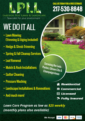 25 Colorful Flyer Designs Lawn Care Flyer Design Project For