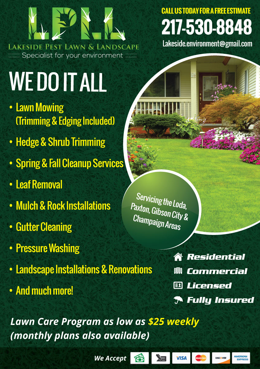 Colorful, Professional Flyer Design for Lakeside Pest Lawn ...