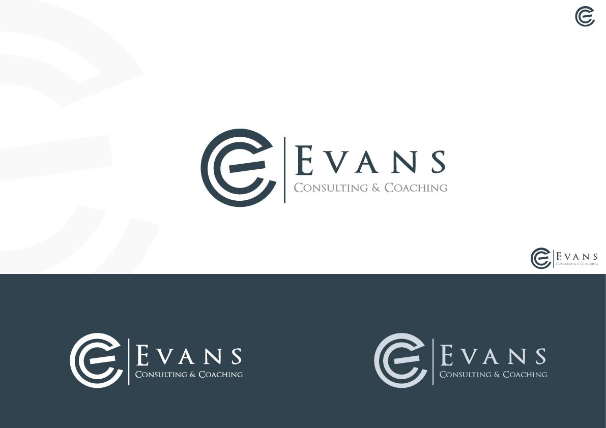 Modern Elegant Logo Design For Evans Consulting And