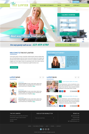 Web Design by Smart - Lawyer health website (wordpress design) to imp ...