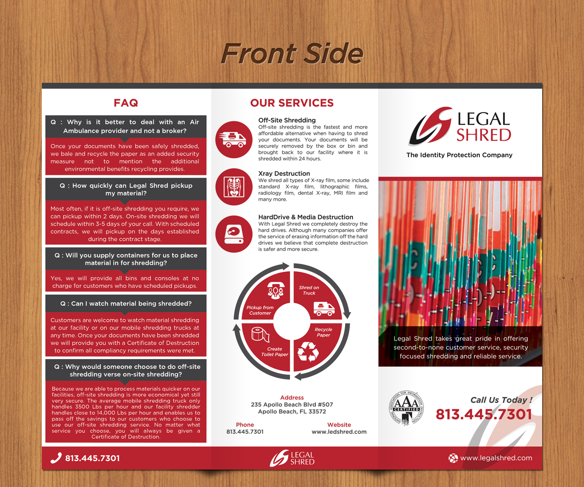 Serious Professional Legal Brochure Design For Legal Shred By