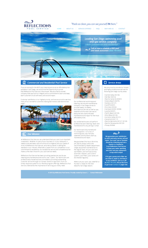 Web Design by Grace A - Swimming Pool Service Website needed!!!