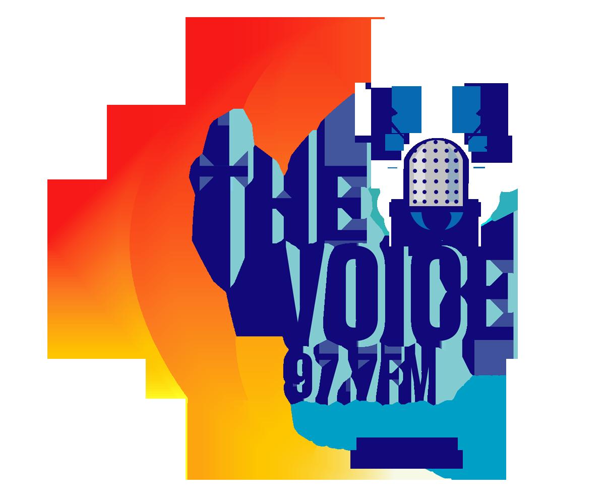 serious elegant radio logo design for the voice 977fm