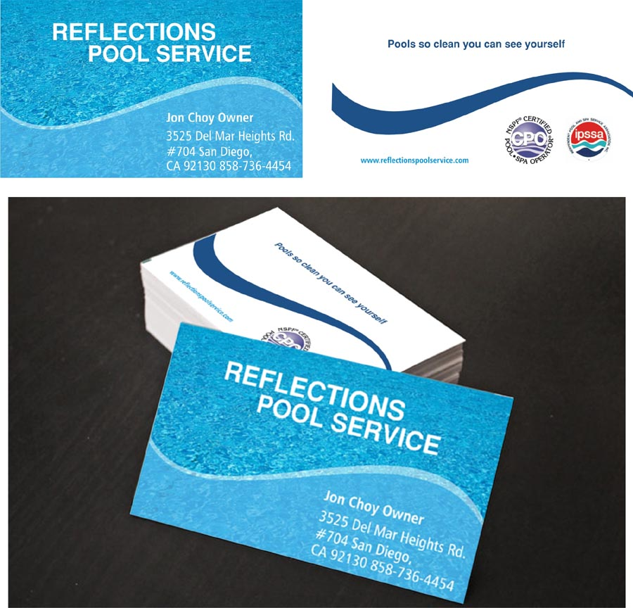 Modern professional business card design for jon choy by for Pool service business cards
