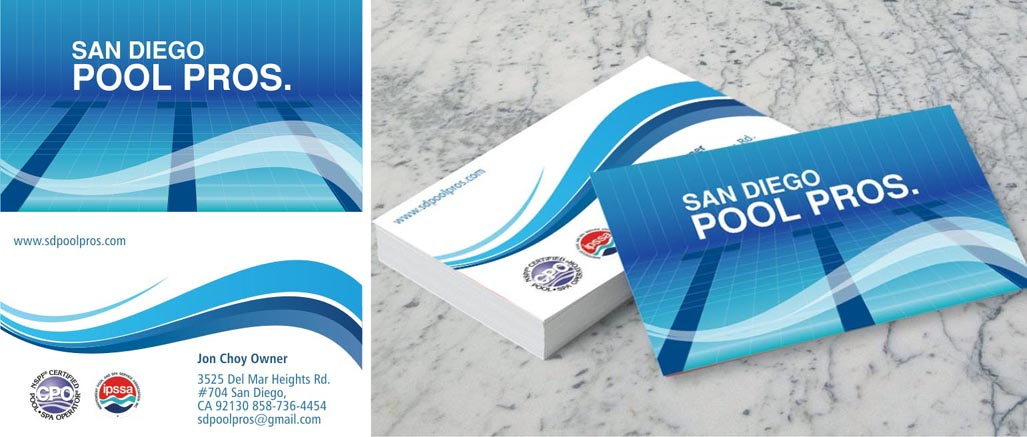 Modern professional business card design for jon choy by vikas business card design by vikas publicity for swimming pool service business card needed colourmoves Choice Image