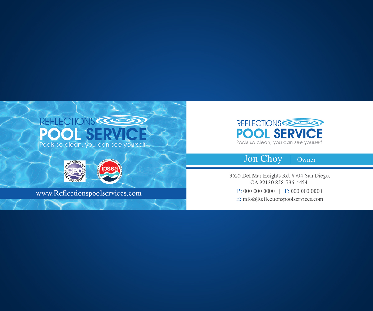 Pool service business cards clear water business card pool service pool service business cards business card design by maxobiz for swimming pool service needed colourmoves