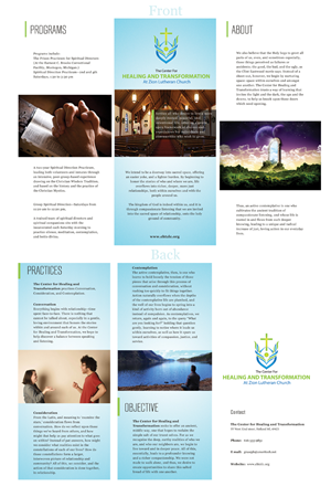 Brochure Design by MT - The Center for Healing and Transformation at Zi ...