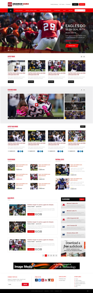 Web Design by pb - Fantasy Football UX Style Guide & Sample Pages ...