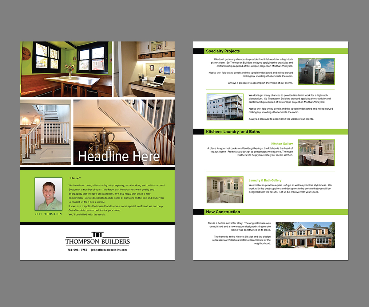 Serious Modern Flyer Design For Jeffrey Thompson By