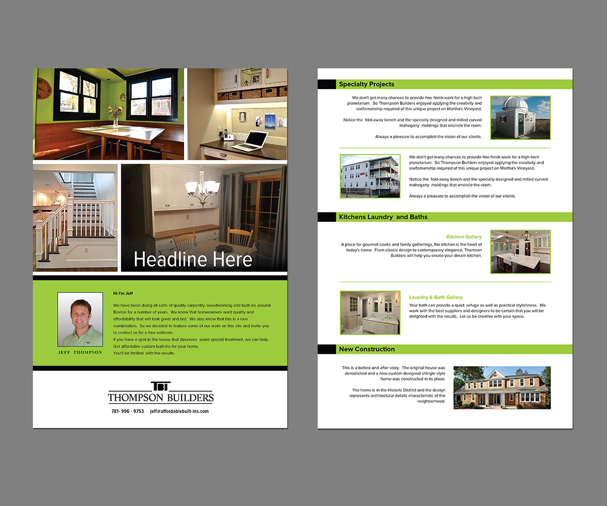 Serious Modern Flyer Design for Jeffrey Thompson by kousik – Contemporary Flyer