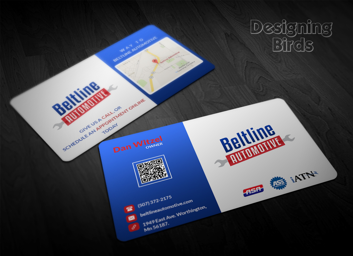 Automotive Business Card Design for a Company by Designing Birds ...