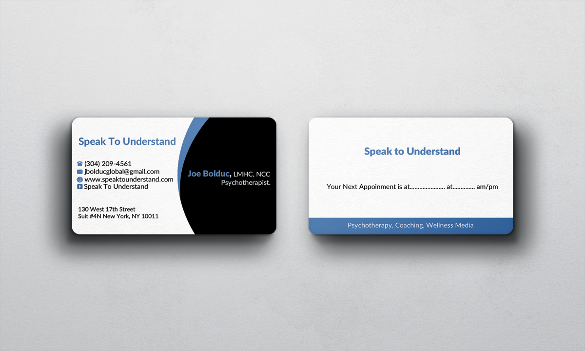 Comfortable motivational business cards photos business card ideas modern serious business card design for joseph bolduc by afhun colourmoves